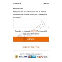 How To Use Discount Coupon Code Notice Above Cart Order Note