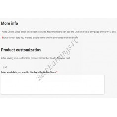 More Info Above Product Customization
